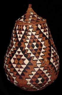 Museum Quality African Zulu Art Basket (403a8) - Marriage Pattern