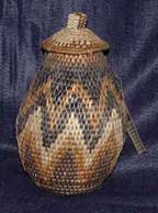African Zulu Herb Basket (102VE2)
