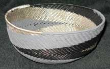 African Zulu Medium Telephone Wire Bowl/Basket (605mtwb5)