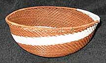 African Zulu Medium Telephone Wire  Bowl/Basket (MWB7)