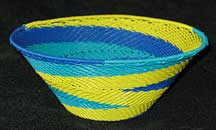 African Zulu Medium Telephone Wire Basket/Bowl (1007mtwb27)