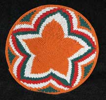Small African Zulu Telephone Wire Plate/Basket - Radiating Star