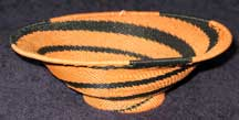 African Zulu Medium Telephone Wire Bowl/Basket with Pedastal Base (1007ptwb3)