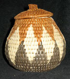 Handmade African Zulu Herb Basket - Squat Pot