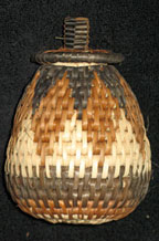 Handmade African Zulu Herb Basket - Dark Diamonds