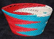 African Zulu Small Telephone Wire  Bowl/Basket (1105stwb11)