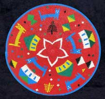 "African Zulu Telephone Wire Plate Basket - ""Happy Holidays"""