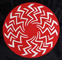 "African Zulu Telephone Wire Plate Basket ""Red Lightening"""