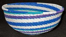 Medium African Zulu Telephone Wire Basket/Bowl - Carnival
