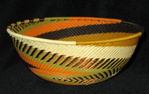Medium African Zulu Telephone Wire Basket/Bowl - High Prairie