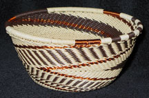 Small African Zulu Telephone Wire Basket/Bowl - Shifting Sands