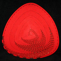 TRIANGLE African Zulu Telephone Wire Plate - Red Copper