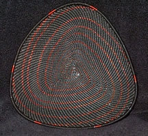 TRIANGLE African Zulu Telephone Wire Plate - Black Copper