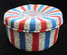 African Zulu Telephone Wire Covered Box Basket - Wonderful Knit
