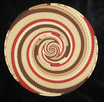 Large African Zulu Telephone Wire Basket/Plate - Desert Knit