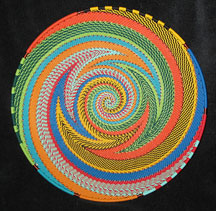 Large African Zulu Telephone Wire Basket/Plate - Vivid Imagination