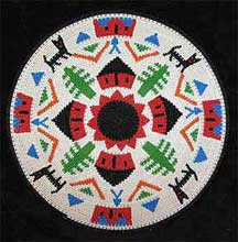 African Zulu Telephone Wire Plate/Basket (1206twp17)