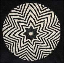 African Zulu Telephone Wire Plate/Basket (1206twp7)