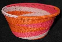 Small African Zulu Telephone Wire Basket/Bowl - Sweet 16