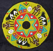 African Zulu Telephone Wire Plate/Basket - Warriors and Cattle