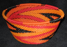 Small African Zulu Telephone Wire Basket/Bowl - Dancing Fires