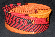 African Zulu Telephone Wire Basket - Tuna Can - Dancing Fire