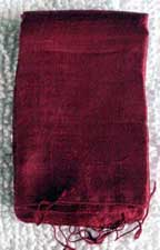 Handmade Thai Raw Silk Burgundy Shawl