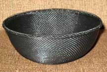 SALE! - Medium African Zulu Telephone Wire Basket/Bowl - Black