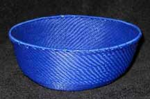 SALE! - Medium African Zulu Telephone Wire Basket/Bowl - Blue