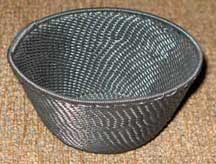 SALE! - Small African Zulu Telephone Wire Basket/Bowl - Black