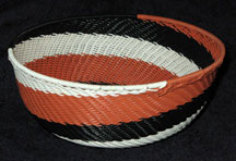 Medium African Zulu Telephone Wire Basket/Bowl  - Soothing Swirl