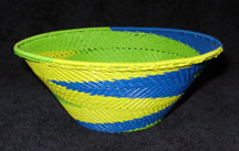 Medium African Zulu Telephone Wire Basket/Bowl  - Jungle Dance