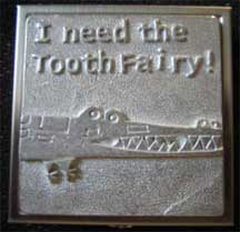 Keepsake Pewter Tooth Fairy Box - Crocodile