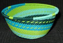 Small African Zulu Telephone Wire Basket/Bowl - Breeze