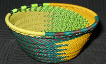 Small African Zulu Telephone Wire Basket/Bowl - Jungle Fever