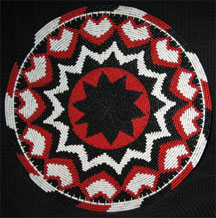 African Zulu Telephone Wire Plate/Basket - Hearts and Stars