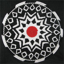 African Zulu Telephone Wire Plate/Basket - Snowflake