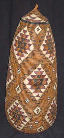 Museum Quality African Zulu Art Basket (805a1) - Marriage Pattern