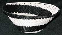 African Zulu Medium Telephone Wire Bowl/Basket (805wmtwb4)