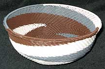 African Zulu Medium Telephone Wire Bowl/Basket (805wmtwb8)
