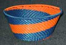 Small African Zulu Telephone Wire Bowl Basket (805wstwb2)