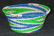 Small African Zulu Telephone Wire Bowl Basket (805wstwb4)