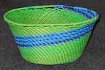 Small African Zulu Telephone Wire Bowl Basket (805wstwb7)