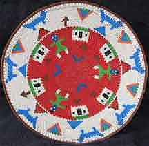 African Zulu Telephone Wire Plate/Basket (807twp3)
