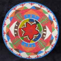 African Zulu Telephone Wire Plate/Basket (807twp6)