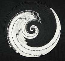 Medium African Zulu Telephone Wire Basket/Plate - Imagination