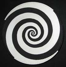 Large African Zulu Telephone Wire Basket/Platter - Black/White Perfect Swirl