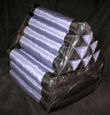 Thai Triangle Meditation Cushion With 3 Part Folding Futon Mat Black
