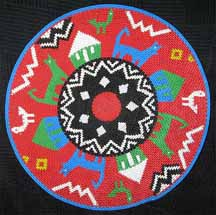 African Zulu Telephone Wire Plate/Basket - Combo Design