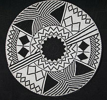 African Zulu Telephone Wire Plate/Basket - Perfect Black and White
